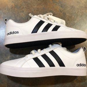 Adidas sneakers NWT VS Pace 8.5 White w/Blk stripe